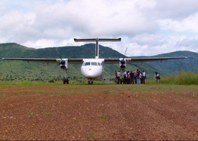 Plane preparing to depart in the Congo