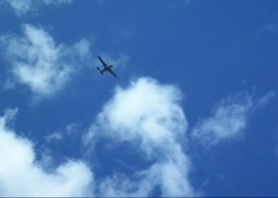 Plane in the air